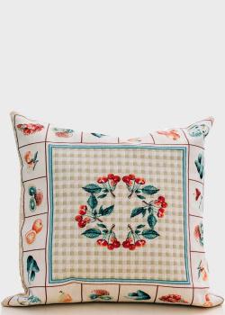 Декоративная наволочка Emilia Arredamento Фруктовая азбука 45x45см, фото
