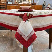 Скатерть Villa Grazia Premium Рождественские ягоды 140х260см, фото