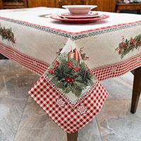 Скатерть Villa Grazia Premium Рождественские свечи 140х180см, фото