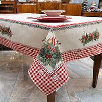 Скатерть Villa Grazia Premium Рождественские свечи 140х260см, фото