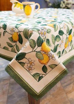 Скатерть гобеленовая Villa Grazia Premium Цветение лимона 140х140см, фото