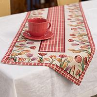 Раннер Emilia Arredamento Цветущие тюльпаны 45х140см, фото