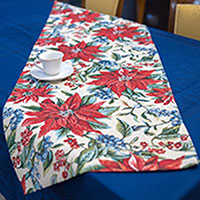 Раннер Villa Grazia Цветущее Рождество 45х140см, фото
