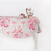 Скатерть круглая Villa Grazia Фламинго 200см, фото