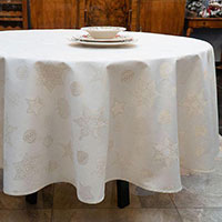 Скатерть Villa Grazia Premium Золотые искорки 220см, фото