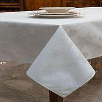 Скатерть Villa Grazia Premium Серебряные искорки 160х320см, фото