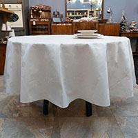 Скатерть  водостойкая Villa Grazia Premium Серебряные искорки 160см, фото