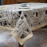 Современная скатерть Emilia Arredamento лофт Газета 180x280см, фото