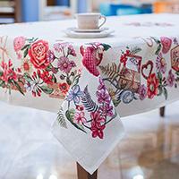 Скатерть Villa Grazia Цветочное послание 140х180см, фото