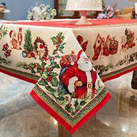 Скатерть Villa Grazia Premium Новогодняя палитра 140х220 см, фото