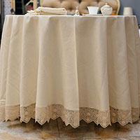 Комплект столового текстиля Bic Ricami с круглой скатертью, фото