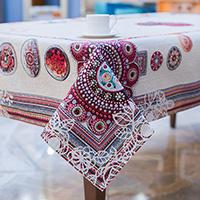 Скатерть Villa Grazia Цветочная мандала 140х180см, фото