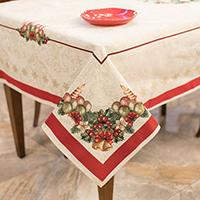 Скатерть Emilia Arredamento Рождественский венок 140х260см, фото