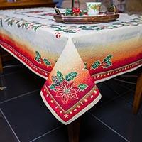 Праздничная скатерть Emilia Arredamento Рождественский цветок 140x140см, фото