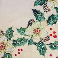 Праздничная скатерть Emilia Arredamento Рождественский цветок 140x220см, фото