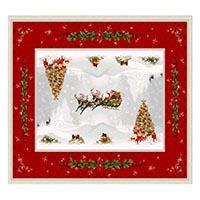 Праздничная скатерть Emilia Arredamento Подарки 140x260см, фото