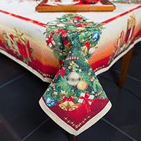 Праздничная скатерть Emilia Arredamento Ёлочные игрушки 140x180см, фото