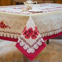 Скатерть Emilia Arredamento Маки 140x260см, фото