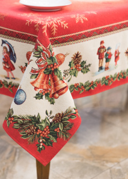 Скатерть Villa Grazia Premium Любимый праздник 140х260см, фото