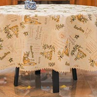 Скатерть Emilia Arredamento для круглого стола Олива Диаметр 260см, фото