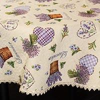 Скатерть Emilia Arredamento для круглого стола Лавандовый Рай Диаметр 260см, фото