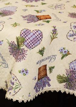 Скатерть Emilia Arredamento Лавандовый Рай 160см в стиле прованс, фото