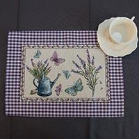 Салфетка Emilia Arredamento тканевая Лаванда и бабочки 35x45см, фото