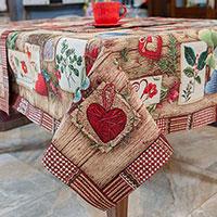 Скатерть гобеленовая Villa Grazia Premium Деревенская романтика 140х140см, фото