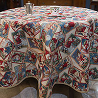 Скатерть Villa Grazia Merry Christmas диаметр 160см, фото