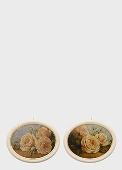Набор из 2-х картин Decor Toscana Розы от Ивана с эффектом кракелюра, фото