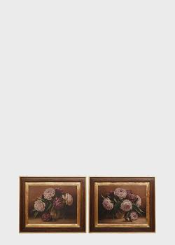 Набор из 2-х картин Decor Toscana Пионы 80х95см с рисунком цветов , фото