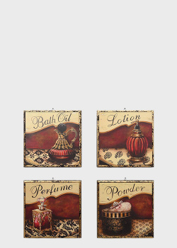 Набор из 4-х картин Decor Toscana Дамский столик 33х33см, фото
