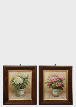 Набор из 2-х картин Decor Toscana Гортензии 35х41см, фото