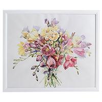 Акварель с летними цветами, фото