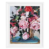 Картина Букет роз в вазе (холст, масло), фото