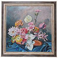 Картина Букет с орхидеями (холст, масло), фото