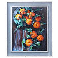 Картина Блюдо с мандаринками (холст, масло), фото