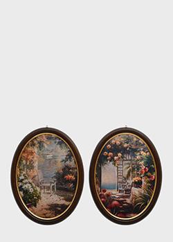 Набор из 2-х картин Decor Toscana Летний сад 60х80см в форме медальонов, фото