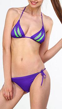 Раздельный купальник EA7 Emporio Armani фиолетового цвета, фото