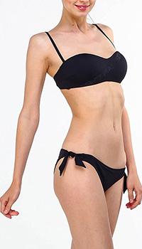 Раздельный купальник Ea7 Emporio Armani черного цвета, фото