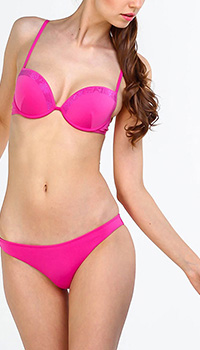 Купальник Ea7 Emporio Armani раздельный розового цвета, фото