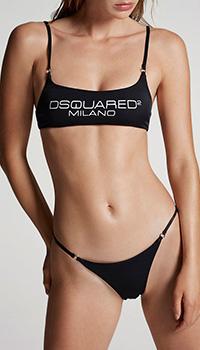 Раздельный купальник Dsquared2 с логотипом, фото