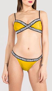 Раздельный купальник Dsquared2 в желтом цвете, фото