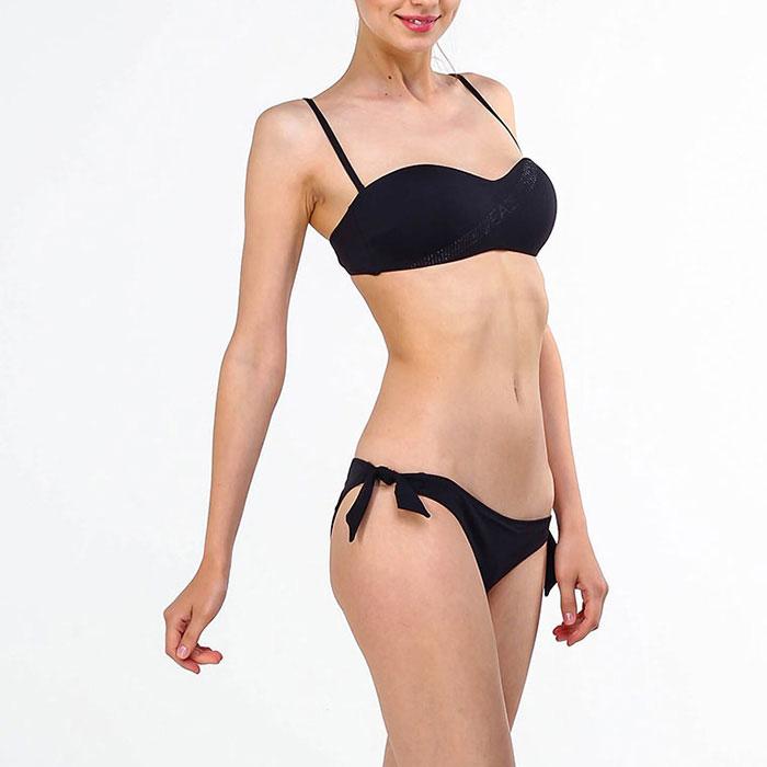 Раздельный купальник Ea7 Emporio Armani черного цвета