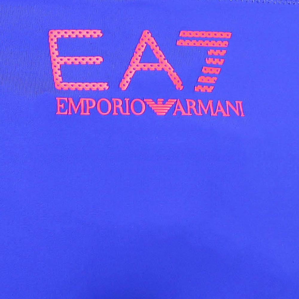 Купальник Ea7 Emporio Armani синего цвета с красными шлейками