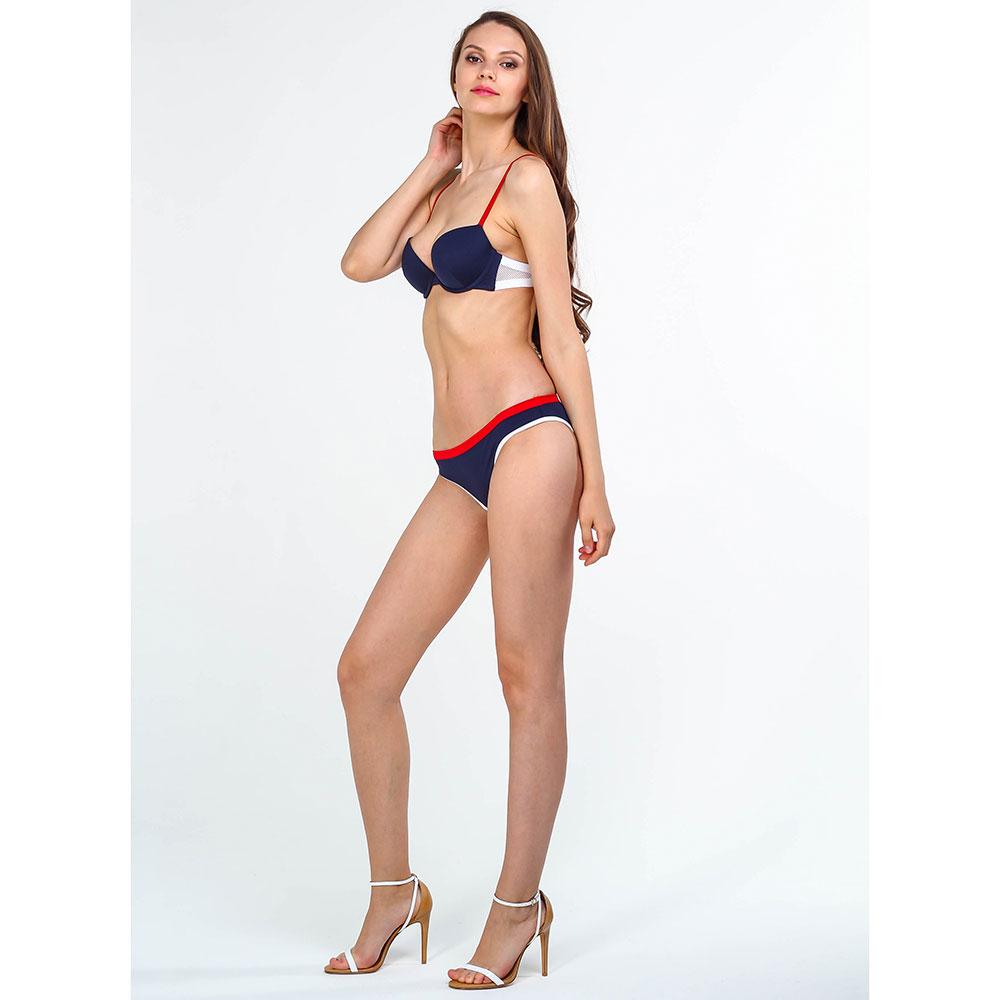 Синий купальник Ea7 Emporio Armani с красными элементами