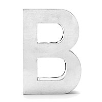 Буква В Seletti металлическая, фото