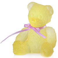 Хрустальная фигурка Daum Мини-мишка желтого цвета, фото
