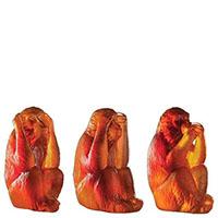 Набор хрустальных обезьянок Daum Veni Vidi Vici, фото