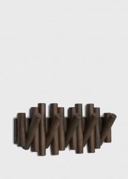Настенная вешалка Umbra Picket Aged Walnut из дерева, фото